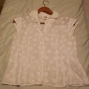 White blouse (short sleeve)
